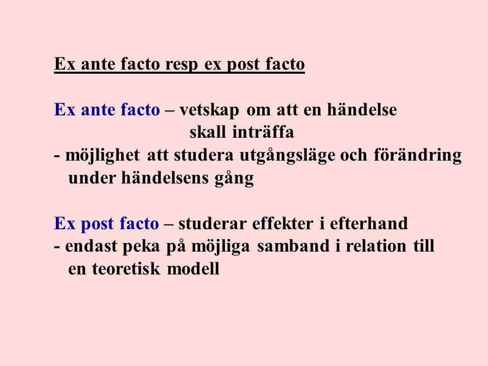 Ex ante facto resp ex post facto