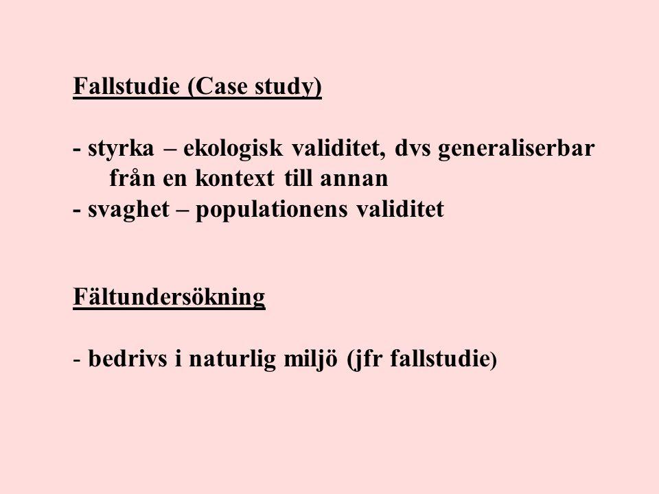 Fallstudie (Case study)