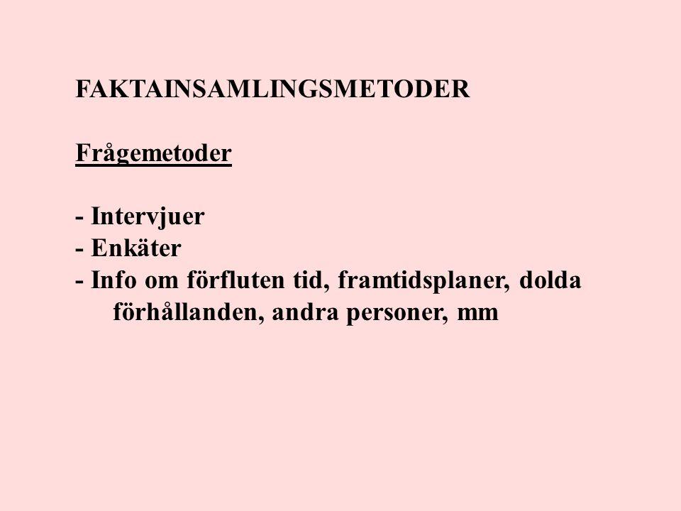 FAKTAINSAMLINGSMETODER