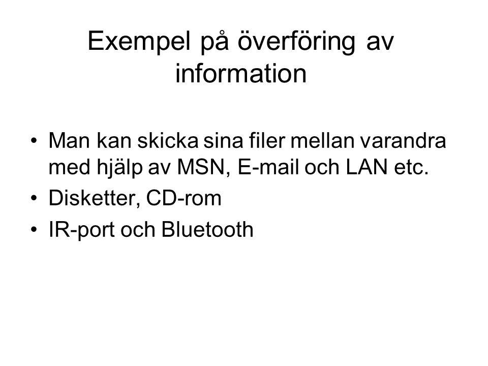 Exempel på överföring av information