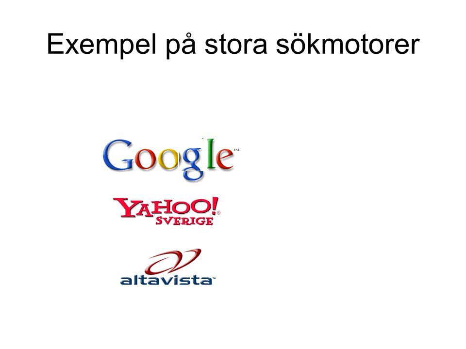 Exempel på stora sökmotorer