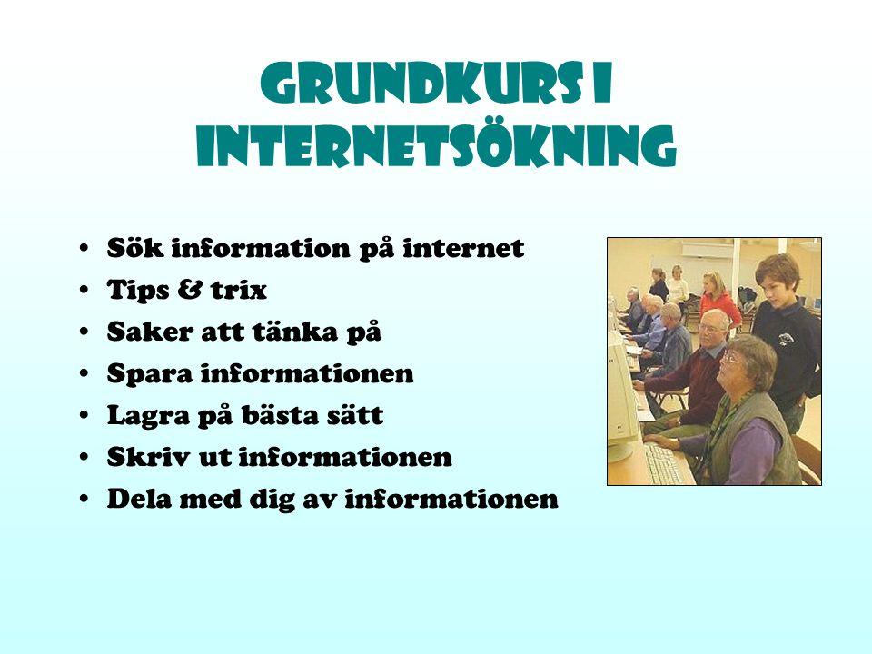 Grundkurs i Internetsökning