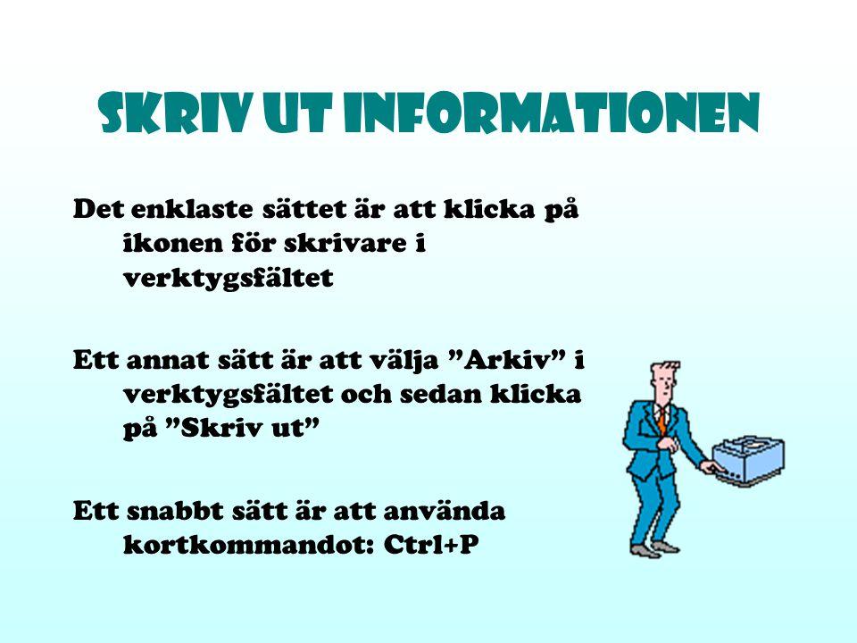 Skriv ut informationen