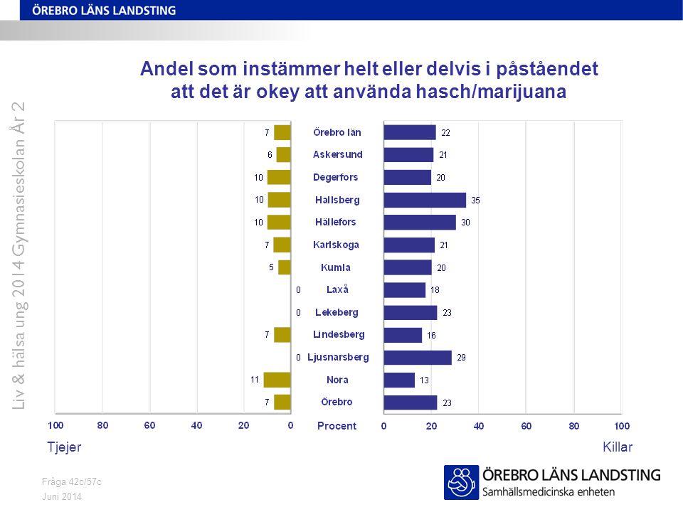 Liv & hälsa ung 2014 Gymnasieskolan År 2