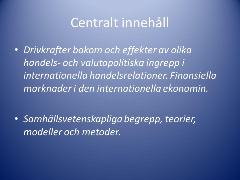 Centralt innehåll
