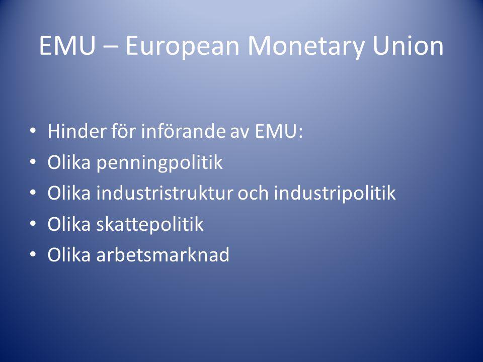EMU – European Monetary Union