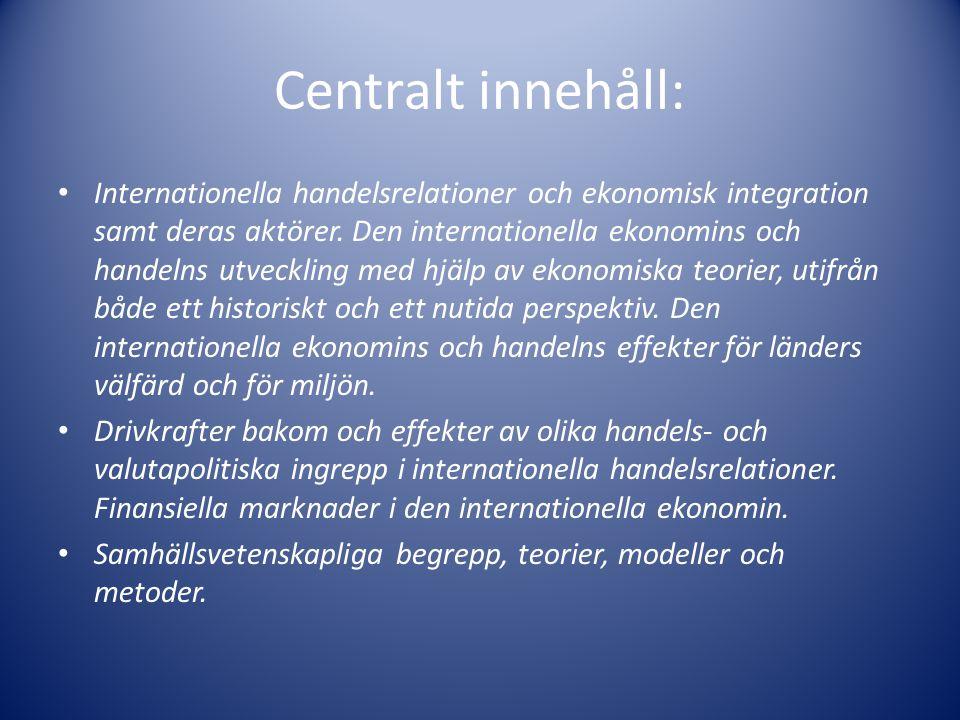 Centralt innehåll: