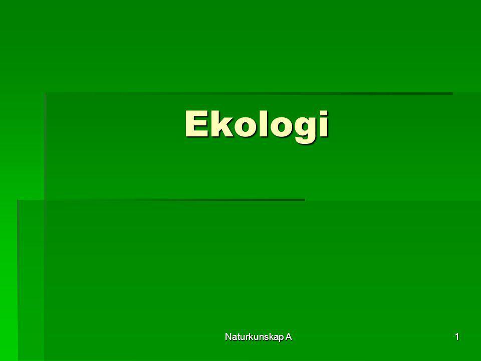 Ekologi Naturkunskap A
