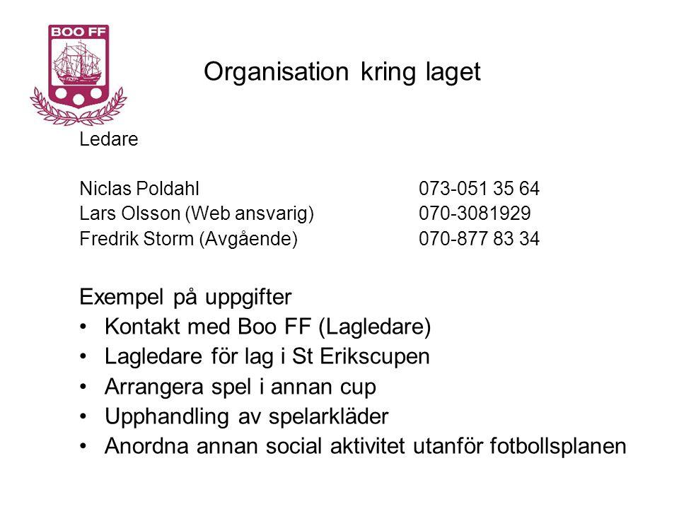 Organisation kring laget
