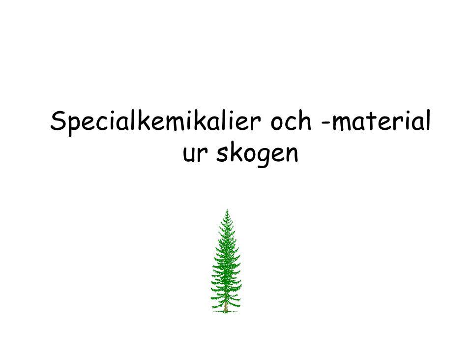 Specialkemikalier och -material ur skogen