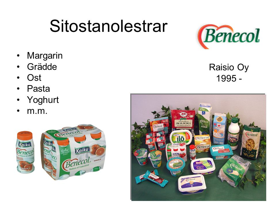 Sitostanolestrar Margarin Grädde Ost Raisio Oy Pasta 1995 - Yoghurt