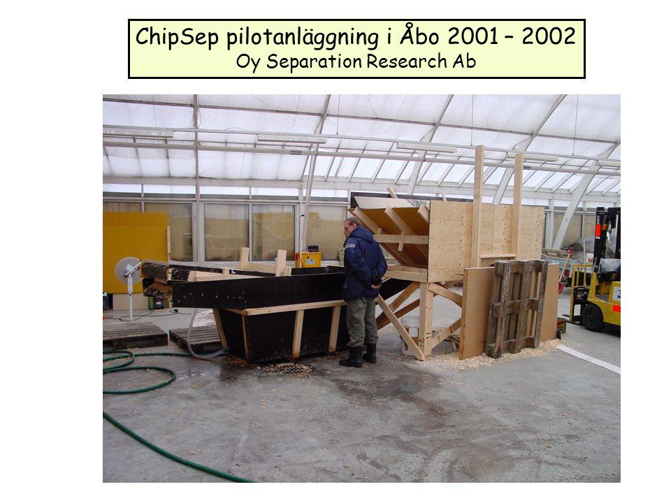 ChipSep pilotanläggning i Åbo 2001 – 2002