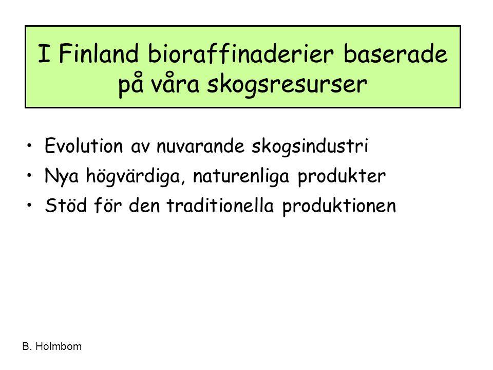 I Finland bioraffinaderier baserade på våra skogsresurser