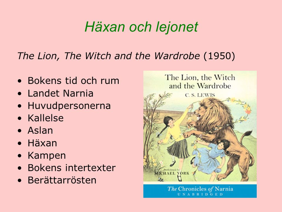 Häxan och lejonet The Lion, The Witch and the Wardrobe (1950)