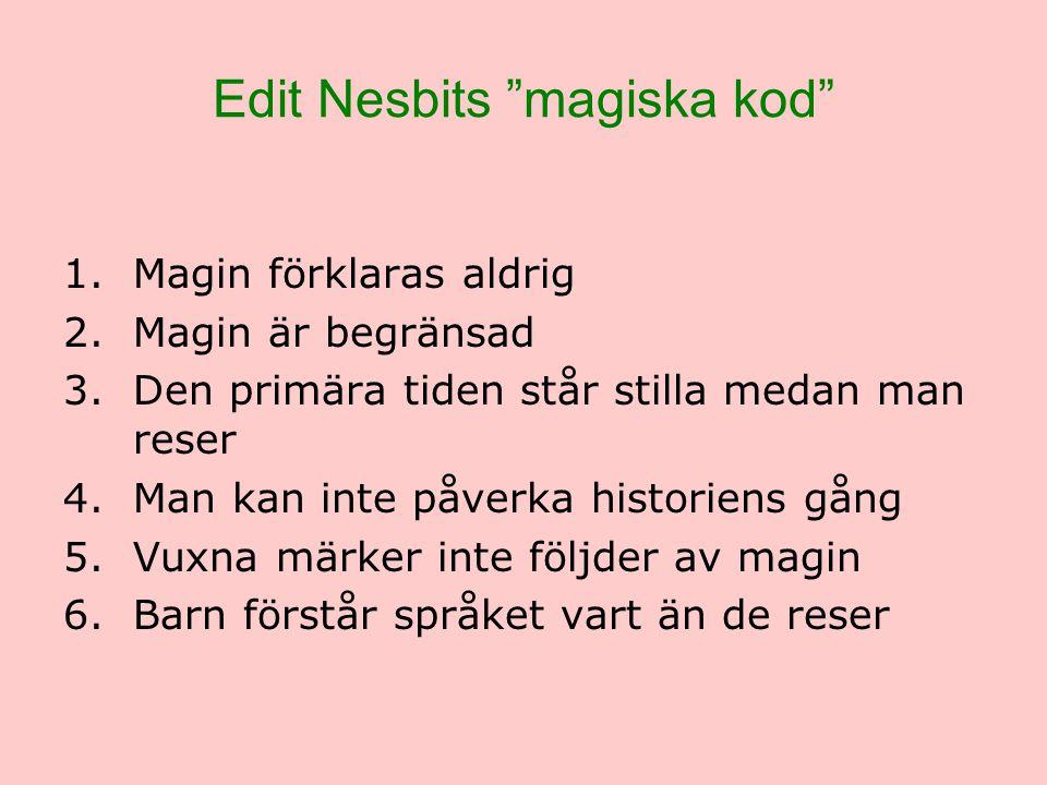 Edit Nesbits magiska kod