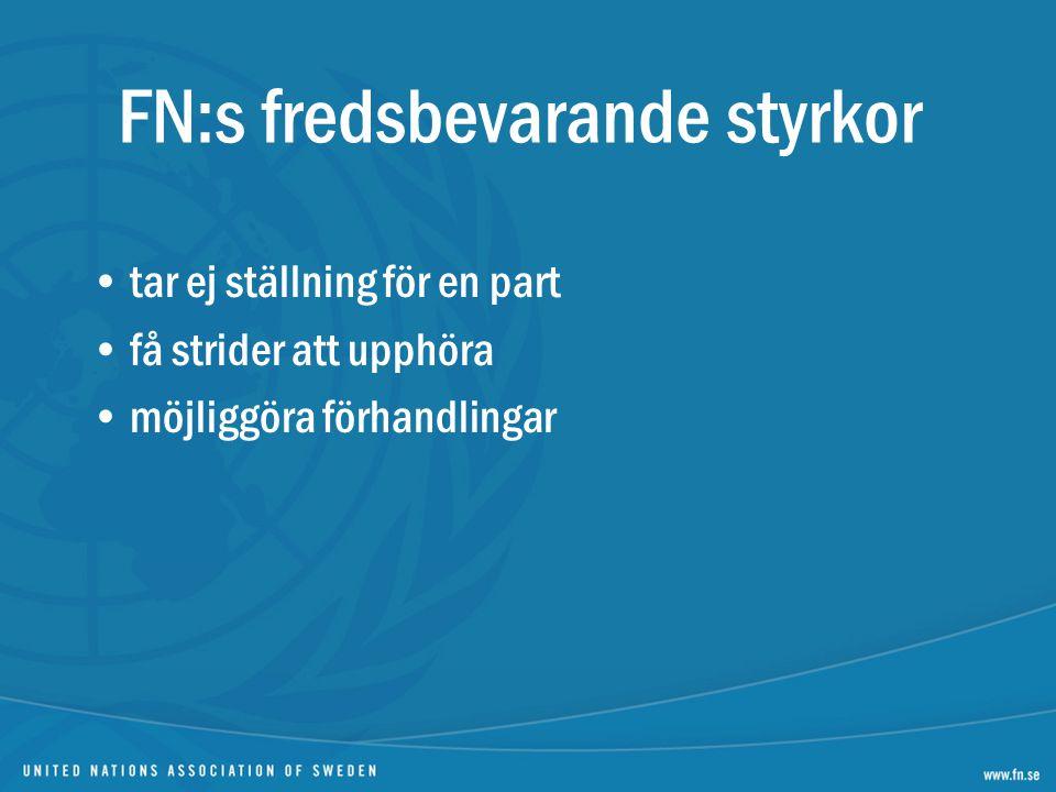FN:s fredsbevarande styrkor