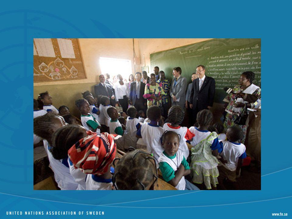 8 mål med olika delmål Mätbara indikatorer. Alla länders ansvar – handlar inte om bistånd primärt.
