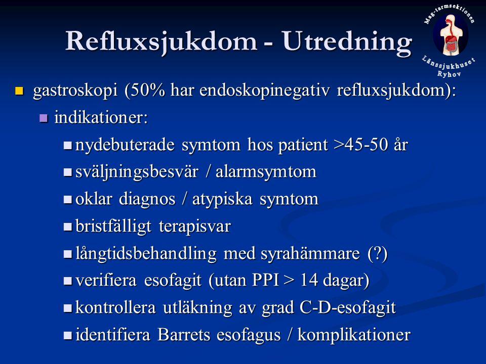 Refluxsjukdom - Utredning