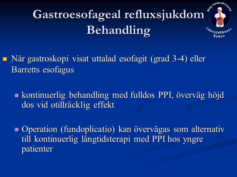Gastroesofageal refluxsjukdom Behandling