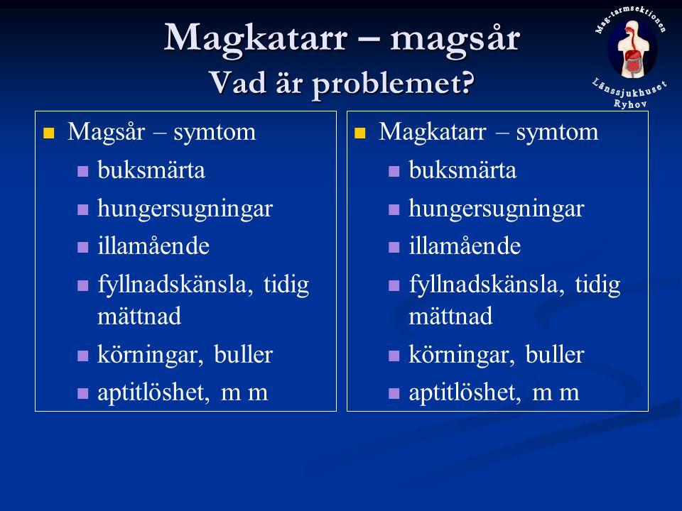 Magkatarr – magsår Vad är problemet