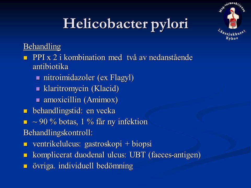 Helicobacter pylori Behandling