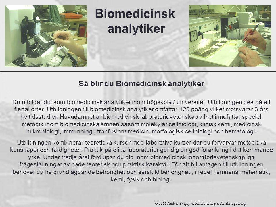Biomedicinsk analytiker