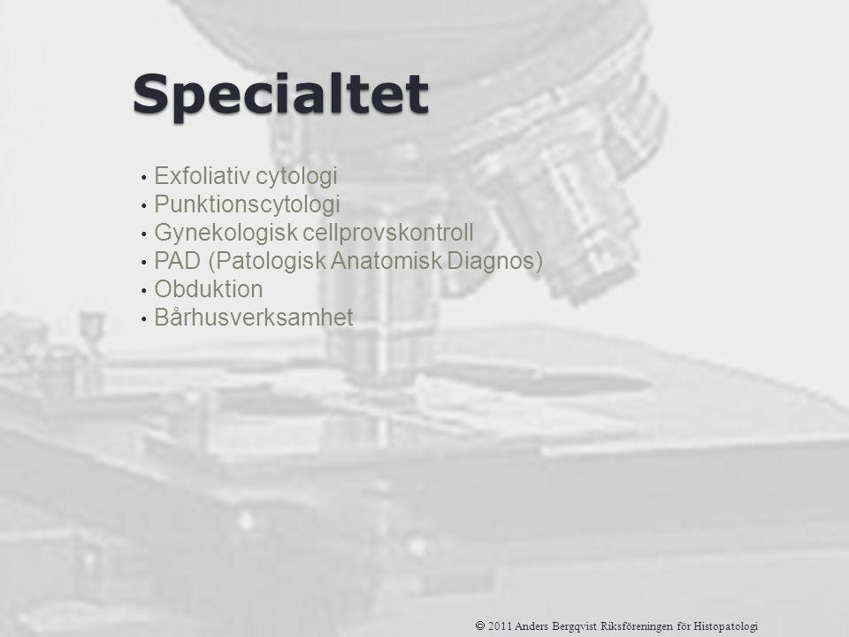 Specialtet Exfoliativ cytologi Punktionscytologi