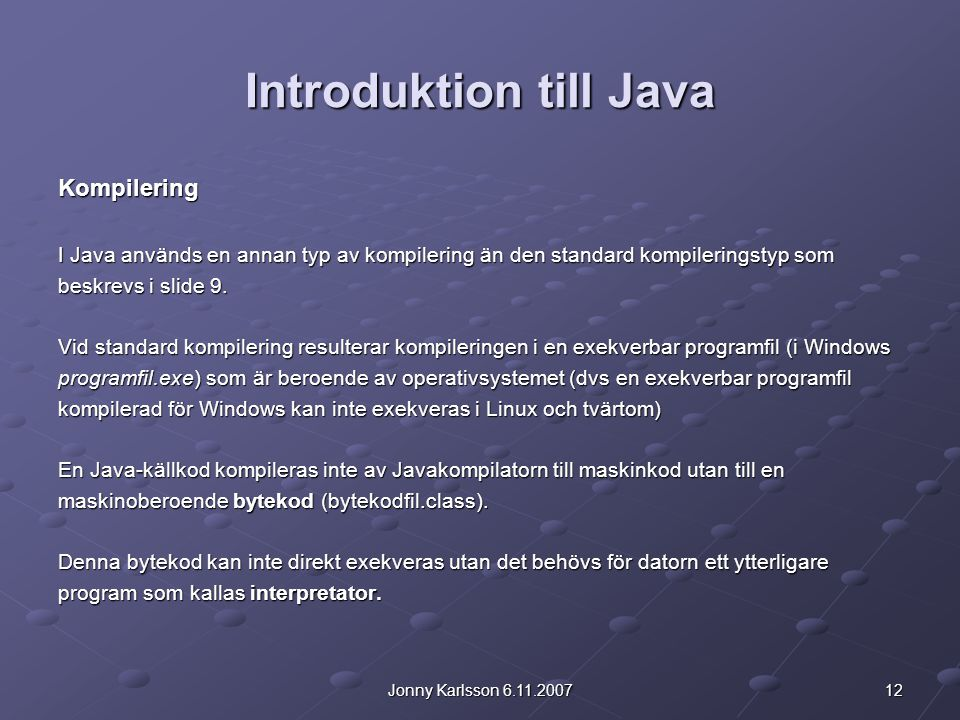 Introduktion till Java