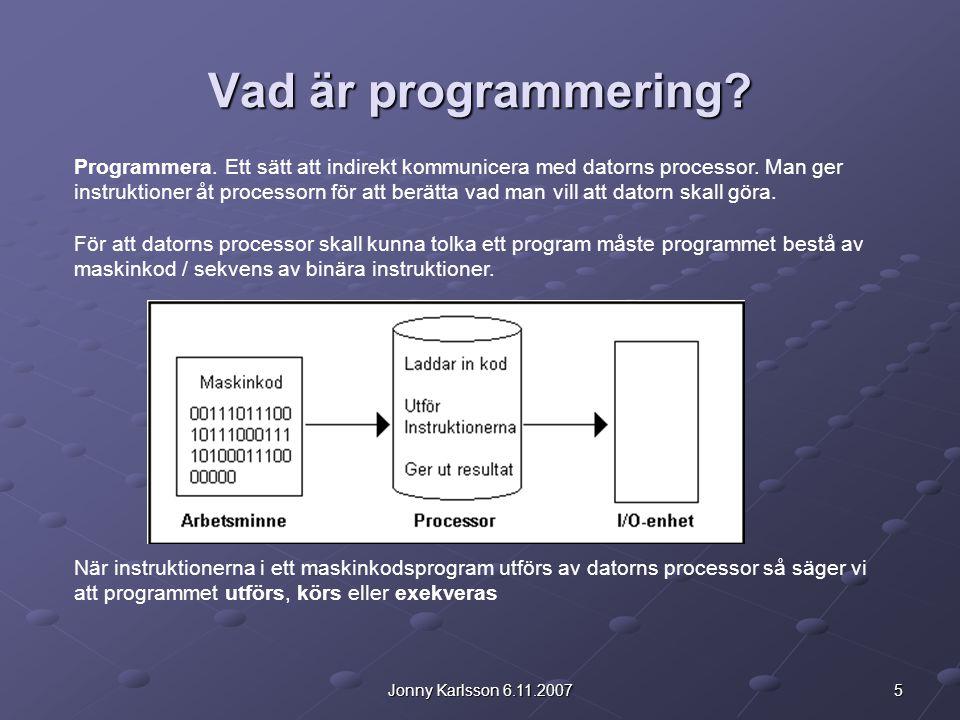 Vad är programmering