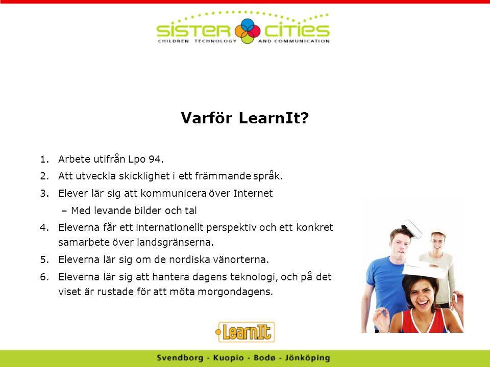 Varför LearnIt Arbete utifrån Lpo 94.