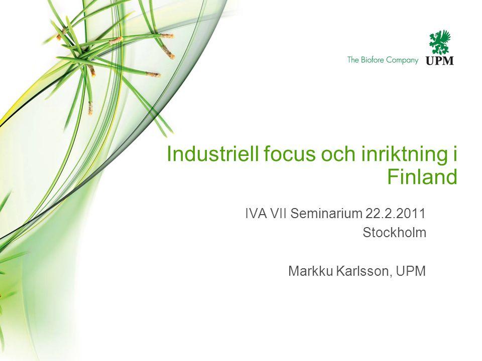 Industriell focus och inriktning i Finland