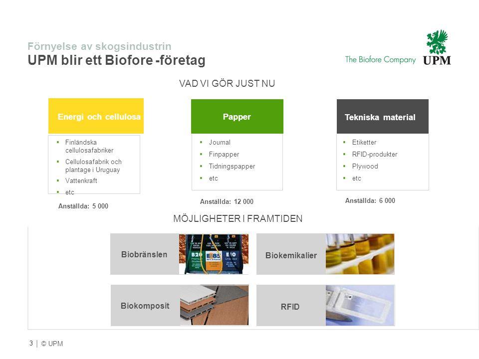 Förnyelse av skogsindustrin UPM blir ett Biofore -företag