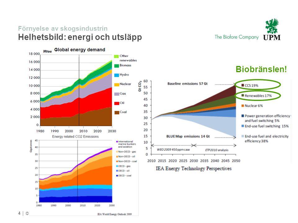 Förnyelse av skogsindustrin Helhetsbild: energi och utsläpp
