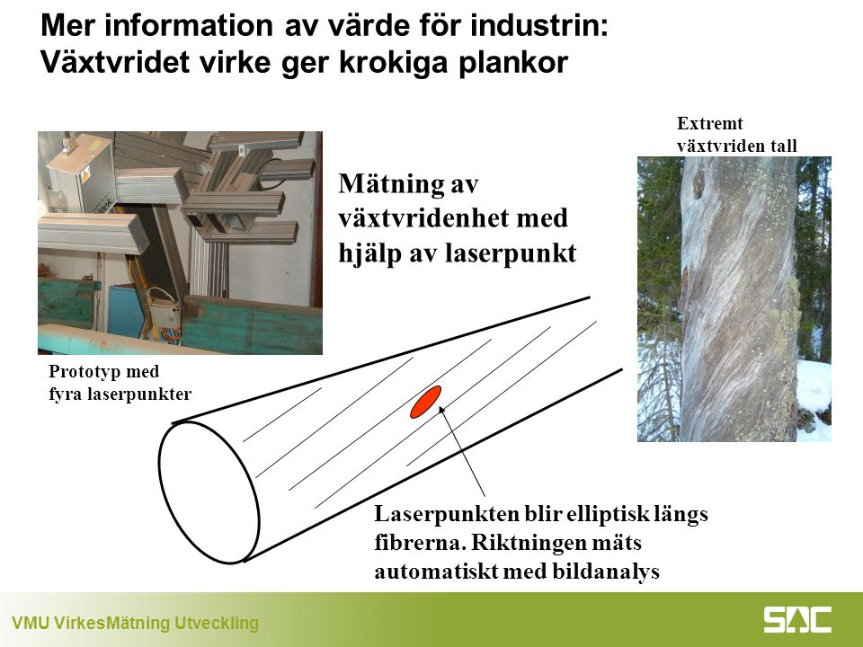 Mer information av värde för industrin: Växtvridet virke ger krokiga plankor
