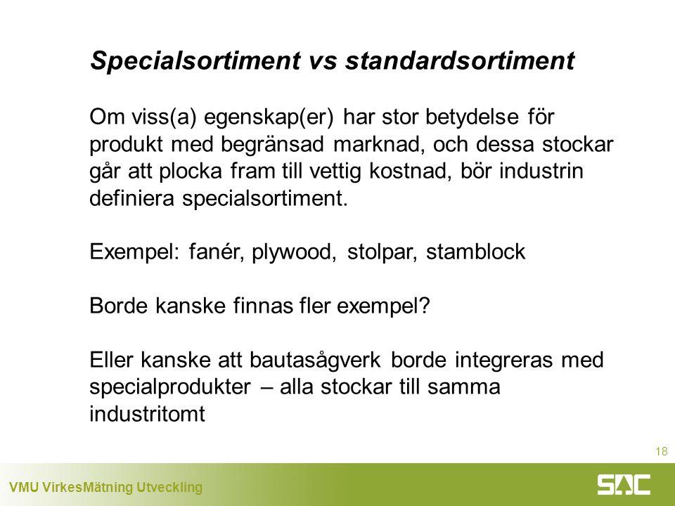 Specialsortiment vs standardsortiment