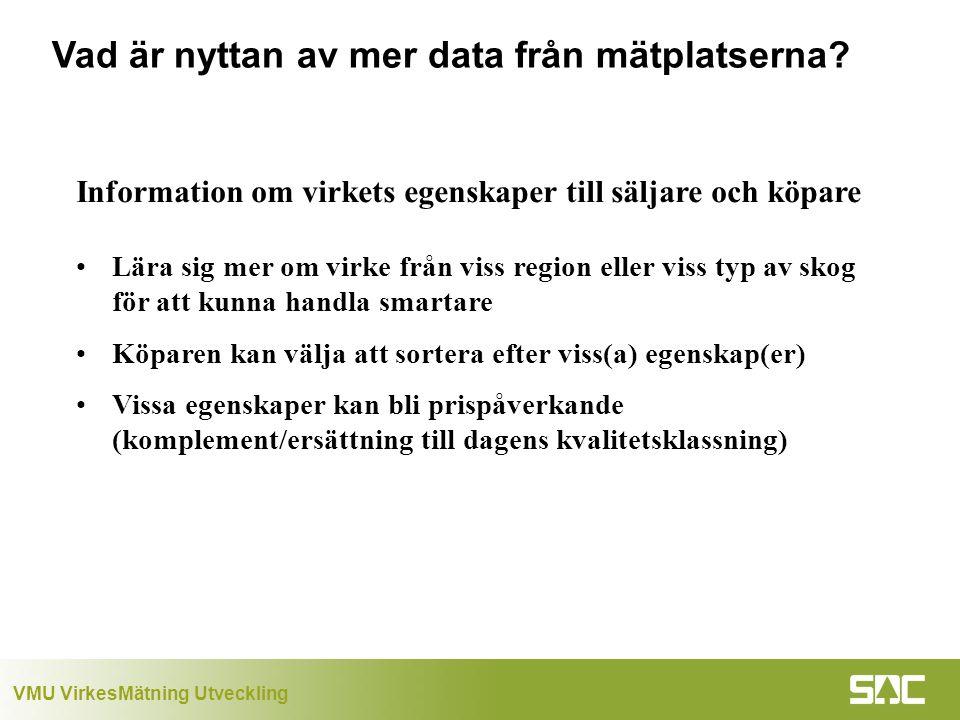Vad är nyttan av mer data från mätplatserna