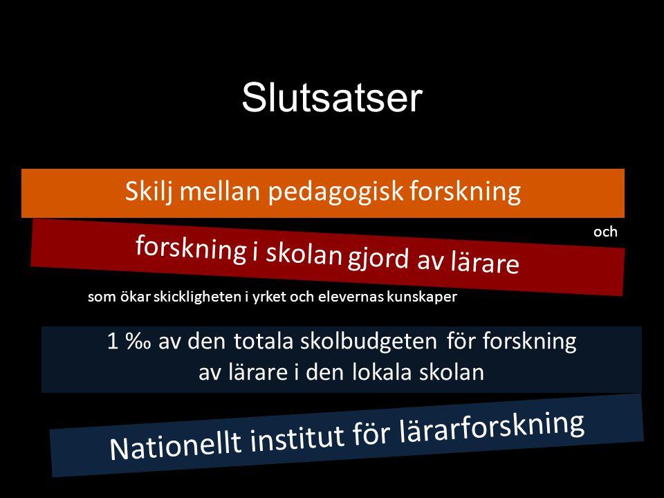 Nationellt institut för lärarforskning