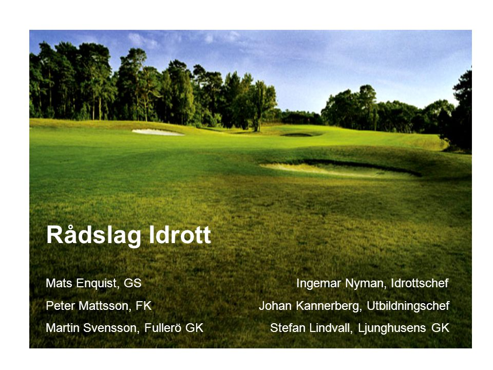 Rådslag Idrott Mats Enquist, GS Ingemar Nyman, Idrottschef