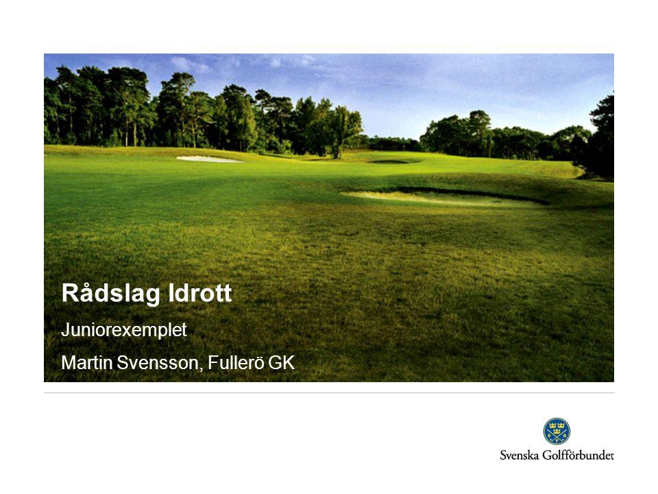 Rådslag Idrott Juniorexemplet Martin Svensson, Fullerö GK
