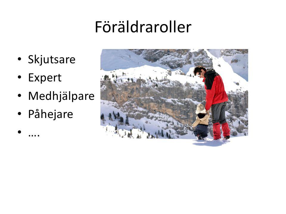 Föräldraroller Skjutsare Expert Medhjälpare Påhejare ….