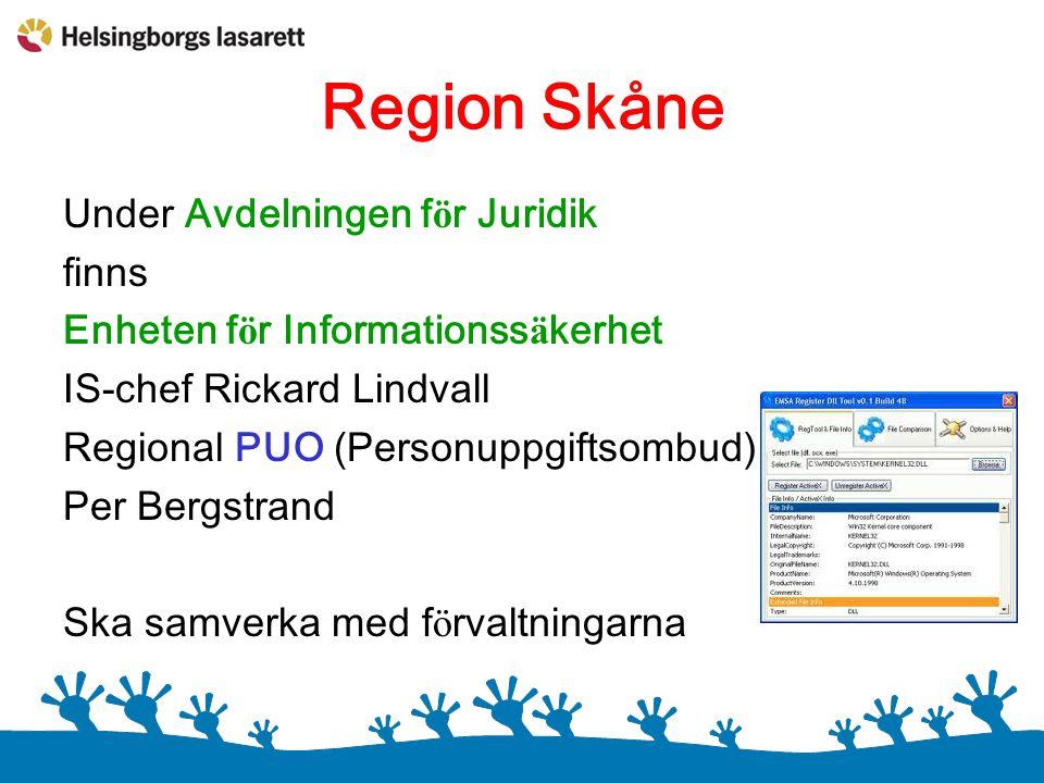 Region Skåne Under Avdelningen för Juridik finns