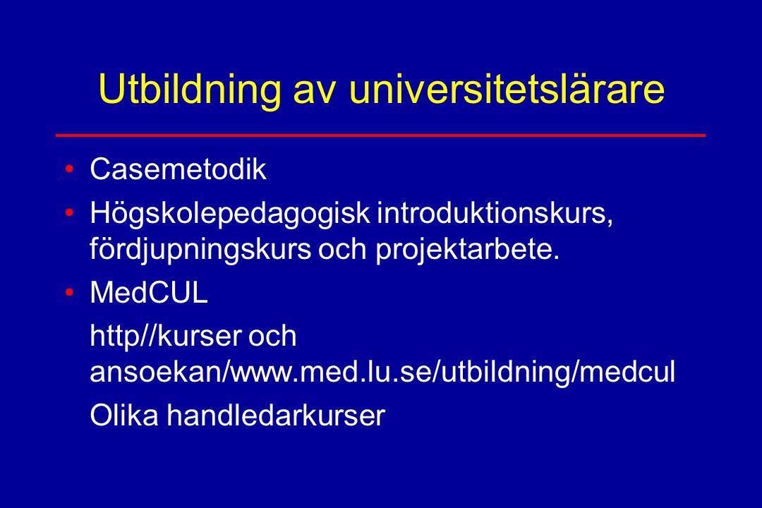 Utbildning av universitetslärare