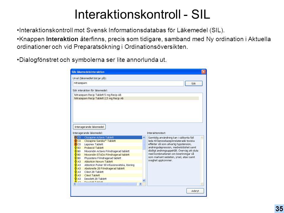 Interaktionskontroll - SIL