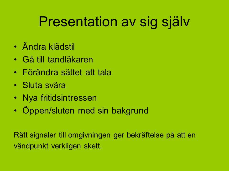 Presentation av sig själv