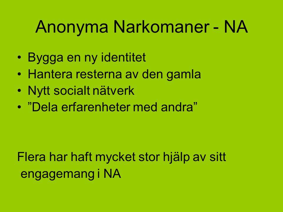 Anonyma Narkomaner - NA