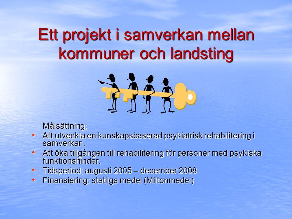 Ett projekt i samverkan mellan kommuner och landsting