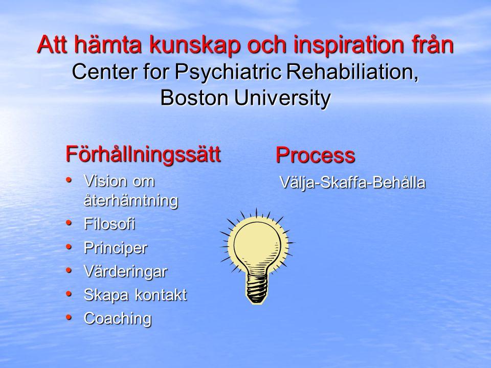 Att hämta kunskap och inspiration från Center for Psychiatric Rehabiliation, Boston University