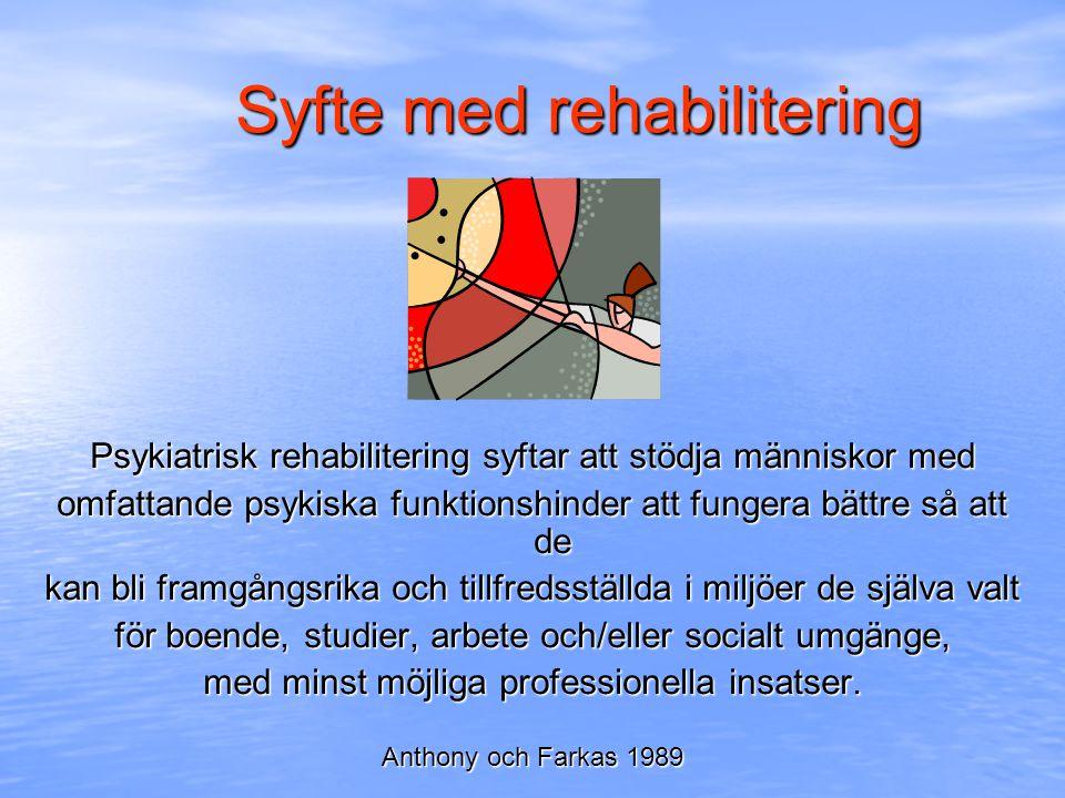 Syfte med rehabilitering