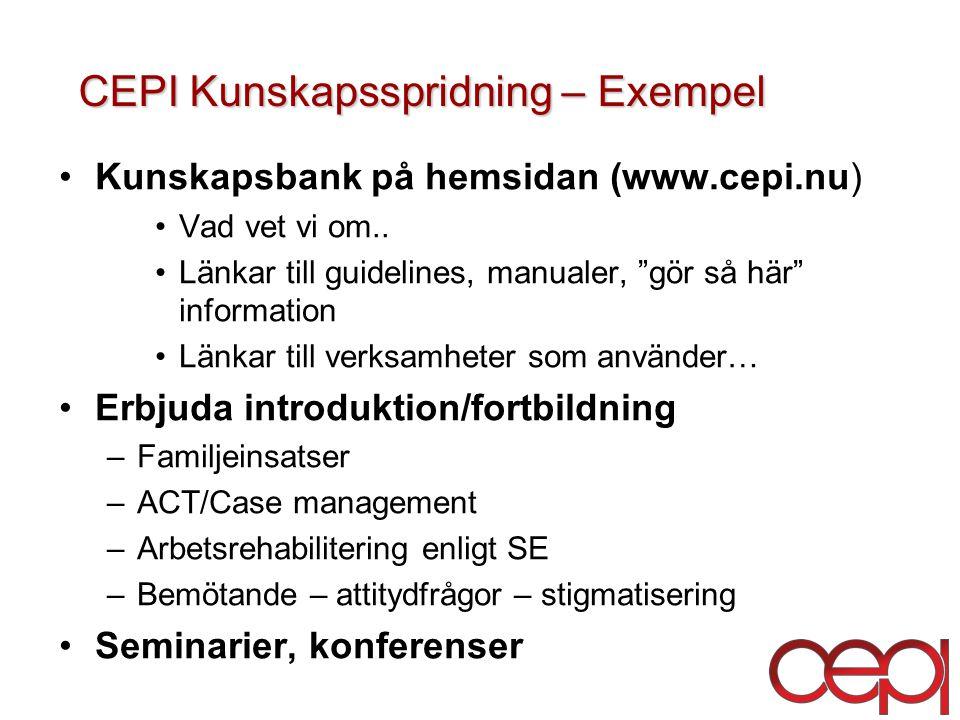 CEPI Kunskapsspridning – Exempel