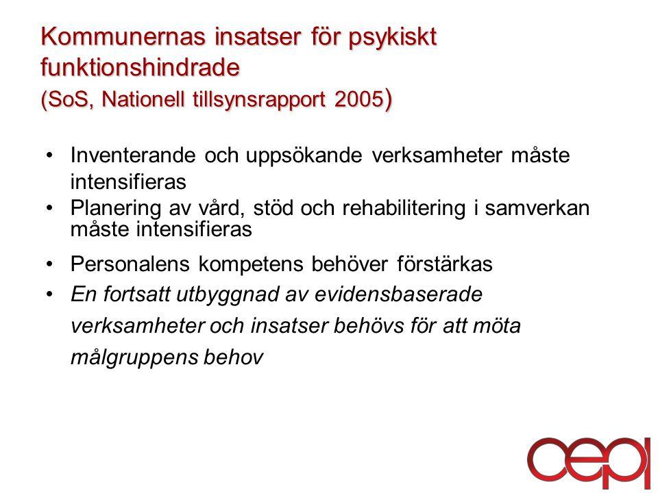 Kommunernas insatser för psykiskt funktionshindrade (SoS, Nationell tillsynsrapport 2005)